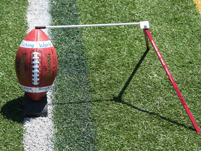 football and ball holder
