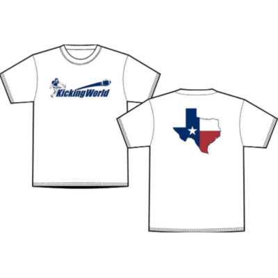 kicking world texas shirt